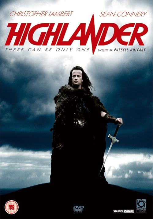Filmaffischen för 'Highlander'.